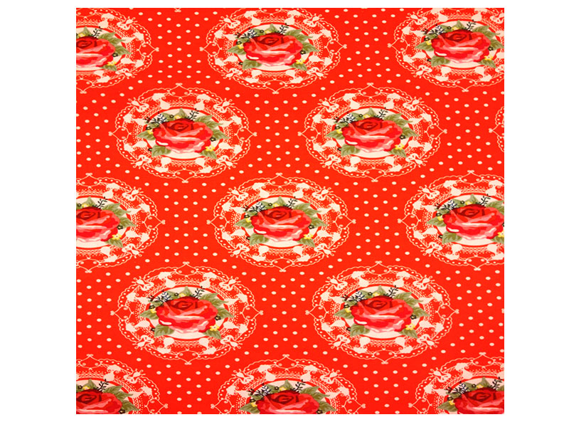 Platno za patchwork-Red roses and dots